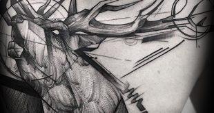 60 Sketch Tattoos für Männer - künstlerische Design-Ideen