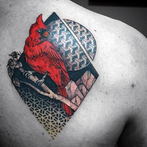 60 Cardinal Tattoo Designs für Männer - Vogel-Tinten-Ideen