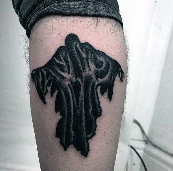 40 Dementor Tattoo Designs für Männer - Harry Potter-Tinten-Ideen