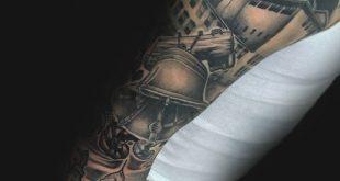 40 Liberty Bell Tattoo Designs für Männer - patriotische Tinte Ideen