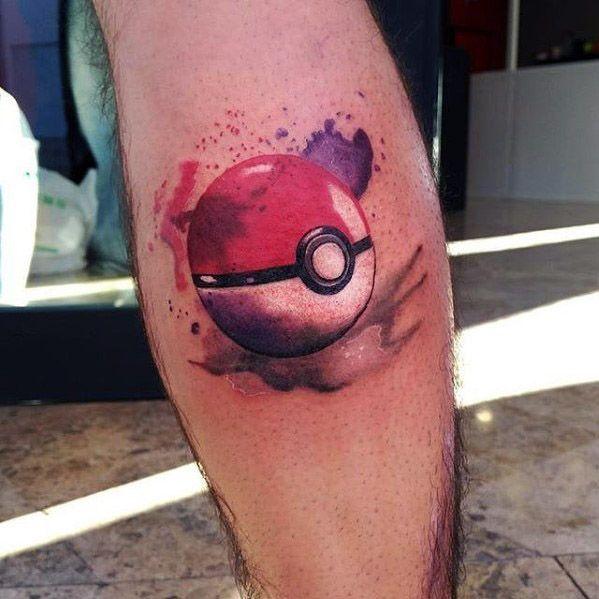 50 Pokeball Tattoo Designs für Männer - Pokemon Ink Ideen