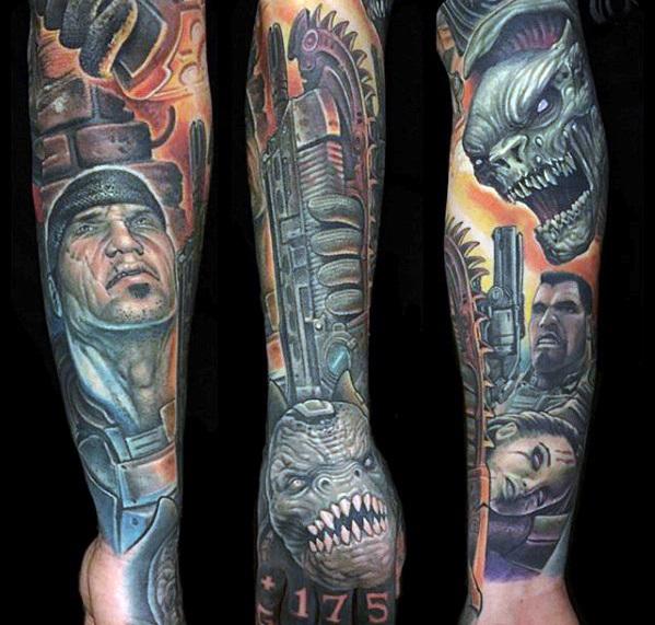 50 Gears Of War Tattoo-Designs für Männer - Videospiel-Tinten-Ideen