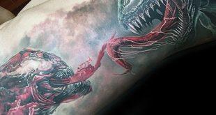 50 Carnage Tattoo-Designs für Männer - Comic Book Supervillain Ink Ideen