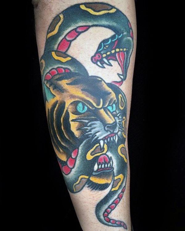 75 traditionelle Tiger Tattoo Designs für Männer - gestreifte Tinte Ideen