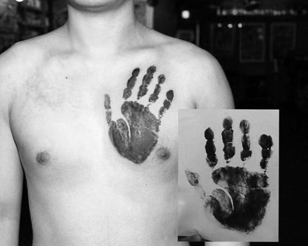 60 Handprint Tattoo Designs für Männer - Impression Ink Ideen