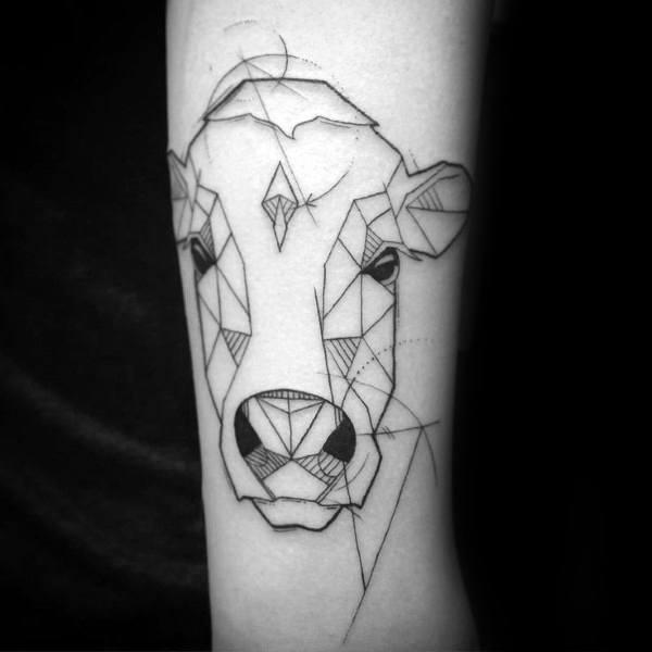 50 Kuh Tattoo Designs für Männer - Cattle Ink Ideen