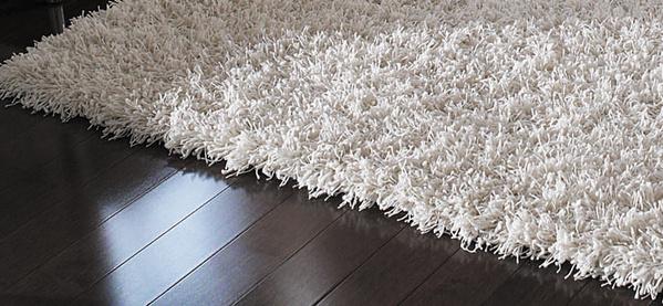 California Elfenbein Shag Teppich