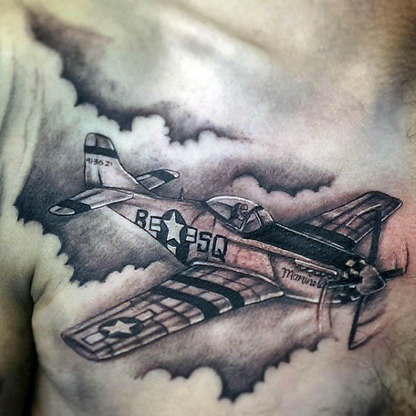 50 Flugzeug Tattoos für Männer - Luftfahrt und Flug inspiriert Ideen