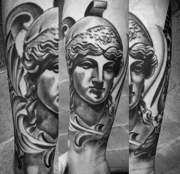 60 Athena Tattoo Designs für Männer - Ancient Greek Goddess Ideen