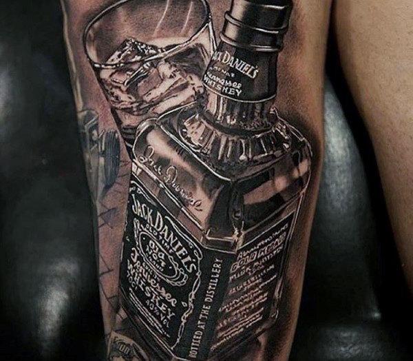60 Jack Daniels Tattoo-Designs für Männer - Whiskey Ink Ideen