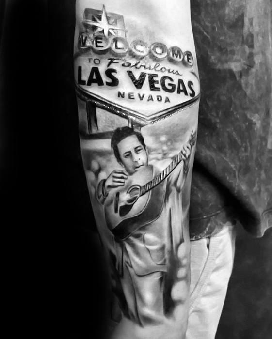 50 Johnny Cash Tattoo Designs für Männer - Musiker Tinte Ideen