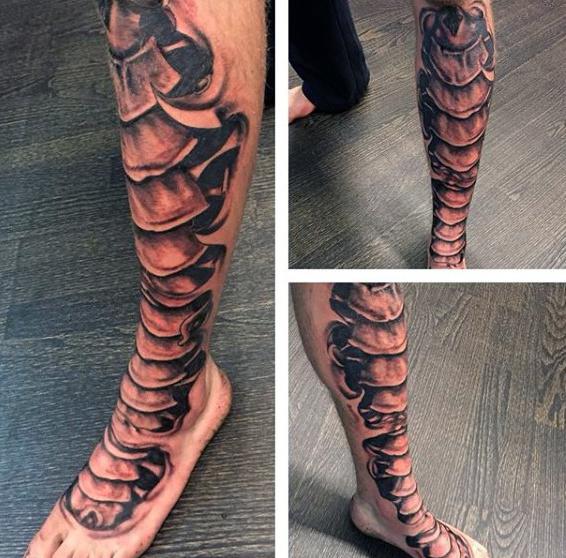 75 Wirbelsäule Tattoos für Männer - Masculine Ink Design-Ideen