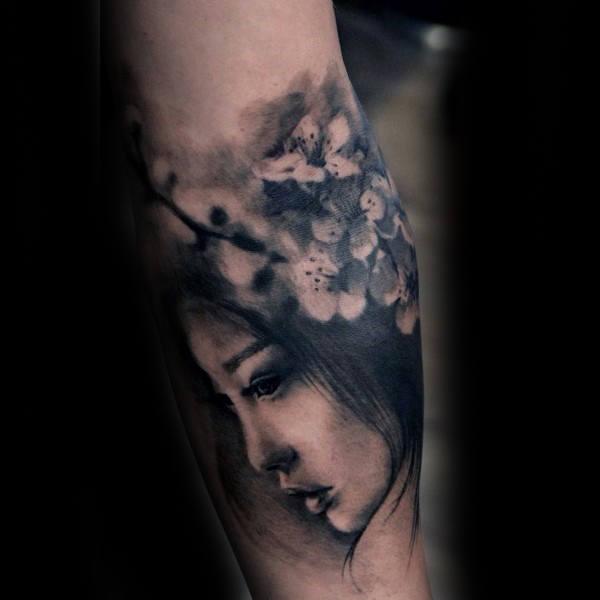 100 Kirschblüten Tattoo Designs für Männer - Floral Ink Ideen