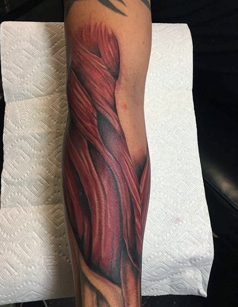 70 Muscle Tattoo Designs für Männer - Exposed Fiber Ink Ideen