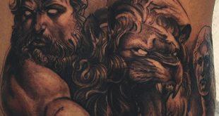 60 griechische Tätowierungen für Männer - männliche Mythologie und alte Götter