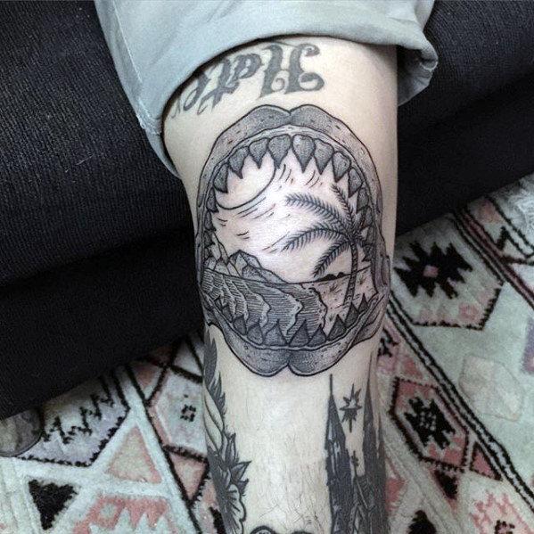 60 Shark Jaw Tattoo Designs für Männer - ein Biss Tinte Ideen