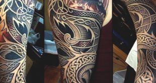 40 keltische Tattoos für Männer - coole Knoten und komplexe Kurven