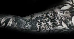30 Olivenbaum Tattoo Designs für Männer - Olea Europaea Tinte Ideen