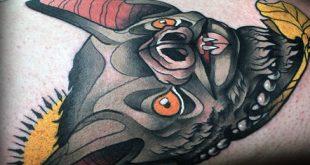 20 Neo traditionelle Bat Tattoo Designs für Männer - einzigartige Ideen