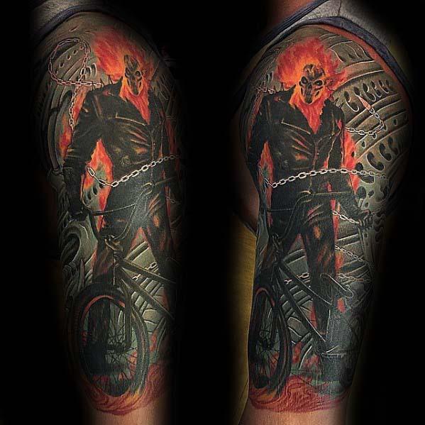 50 Bmx Tattoos Für Männer Cool Fahrrad Tinte Design Ideen Mann
