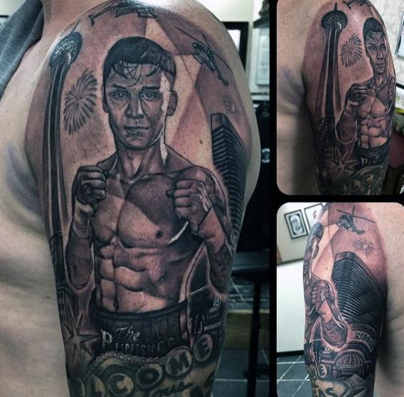 40 Boxing Tattoos für Männer - Ein Handschuh Punch Of Manly Ideen