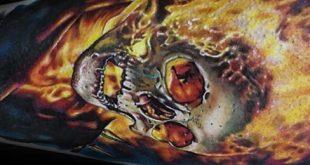 50 Ghost Rider Tattoo Designs für Männer - übernatürliche Antihero Ideen