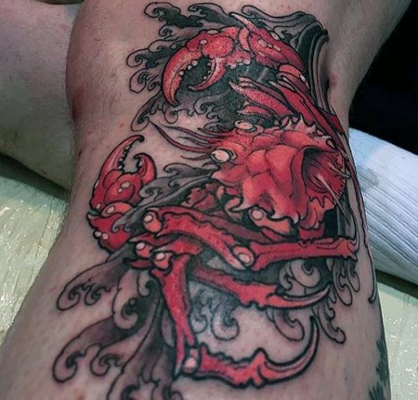 80 Krabbe Tattoo Designs für Männer - Masculine Ink Ideen