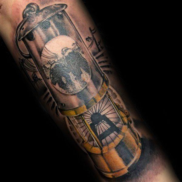 40 Kohlebergbau Tattoos für Männer - Miner Design-Ideen
