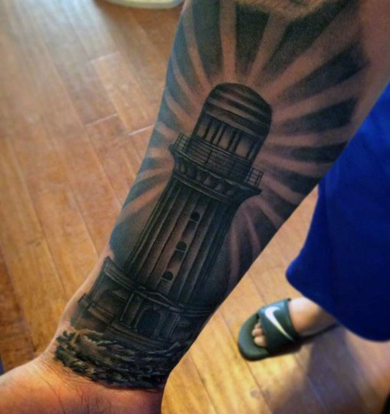 100 Leuchtturm Tattoo Designs für Männer - ein helles Beacon der manly Ideen