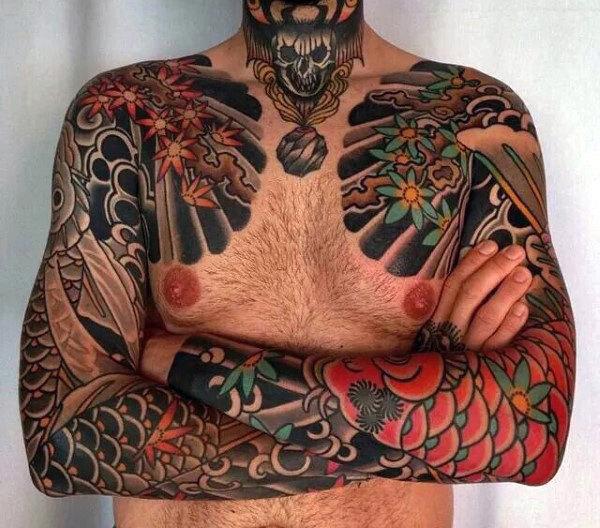 50 japanische Tätowierungen für Männer - männliche Motive, die zurück zu 10.000 B.C.