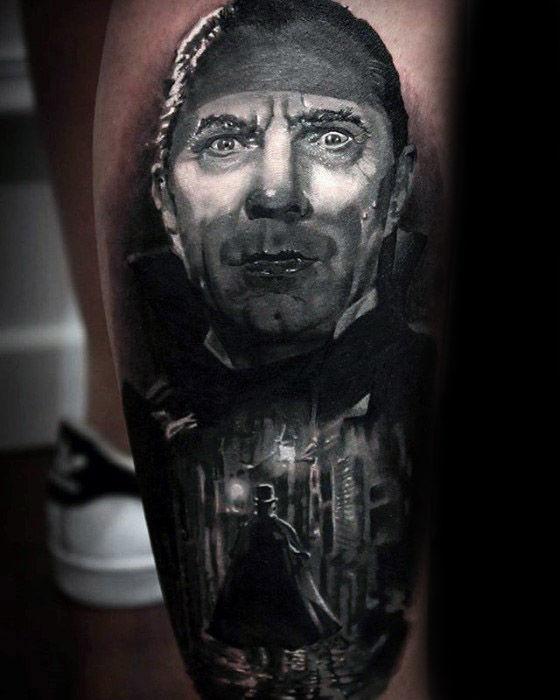 40 Dracula Tattoo Designs für Männer - Blutsauger Vampire Ink Ideen