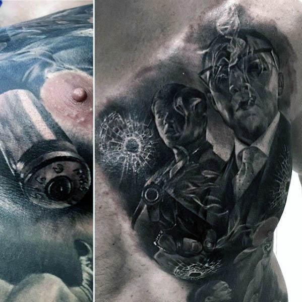 30 Broken Glass Tattoo Designs für Männer - Shattered Ink Ideen