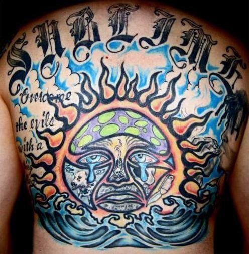 40 Sublime Tattoos für Männer - Punk Band Design-Ideen