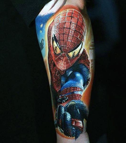 100 Spiderman Tattoo Design-Ideen für Männer - Wild Webs of Manly Ink
