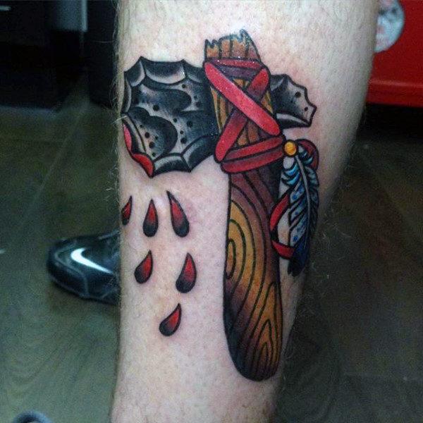 009f31f31 70 Tomahawk Tattoo Designs für Männer - American Indian Axe Ideen ...