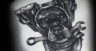 60 Wrench Tattoo Designs für Männer - Tool Ink Ideen