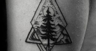 60 kleine Baum Tattoos für Männer - Maskuline Design-Ideen