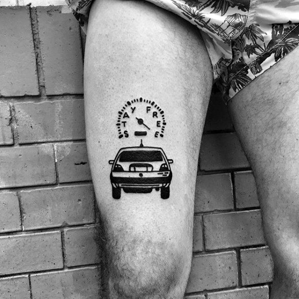 50 einfache Bein Tattoos für Männer - maskuline Design-Ideen