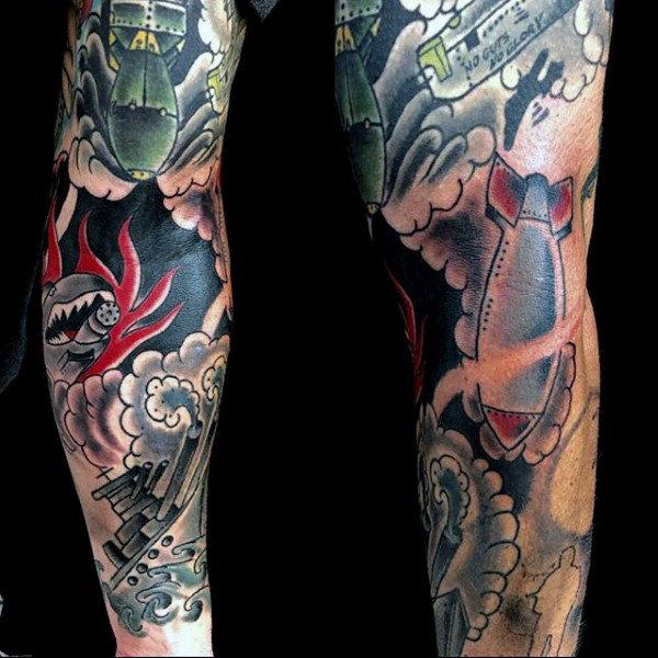 60 Bombe Tattoo Designs für Männer - Explosive Ink Ideen