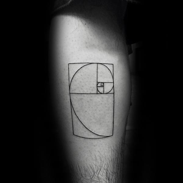 60 Fibonacci Tattoo Designs für Männer - Spiral Ink Ideen