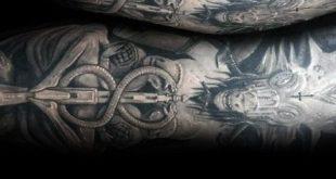 50 Baphomet Tattoo Designs für Männer - dunkle Tinte Ideen