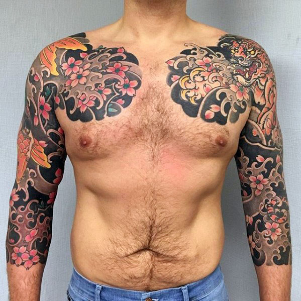 60 japanische Half Sleeve Tattoos für Männer - Manly Design-Ideen