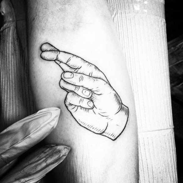40 Gebärdensprache Tattoo Designs für Männer - Kommunikation Ink Ideas