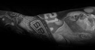 30 San Antonio Spurs Tattoos für Männer - Basketball-Tinte-Ideen
