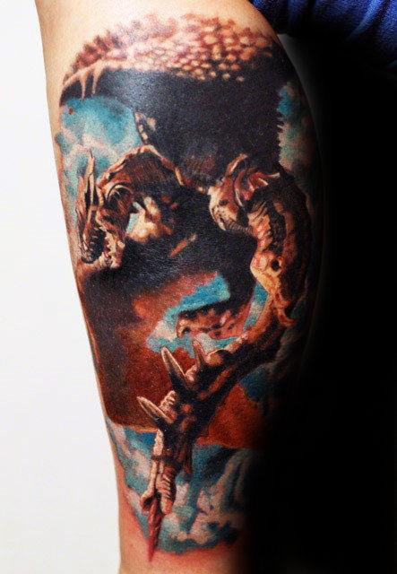 30 Dragon Leg Tattoo Designs für Männer - Masculine Ink Ideen
