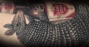50 Armadillo Tattoo Designs für Männer - Armor Shell Ink Ideen