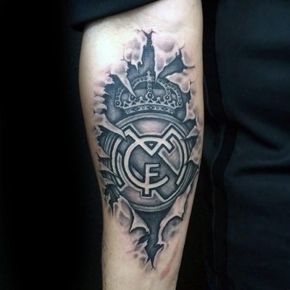 60 Real Madrid Tattoo Designs Fur Manner Fussball Tinten