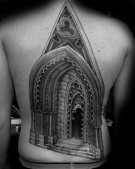 50 Cathedral Tattoo Designs für Männer - Kirche Tinte Ideen