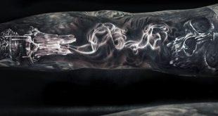 50 Smoke Tattoos für Männer - männliche Angelegenheit zu Geist Designs