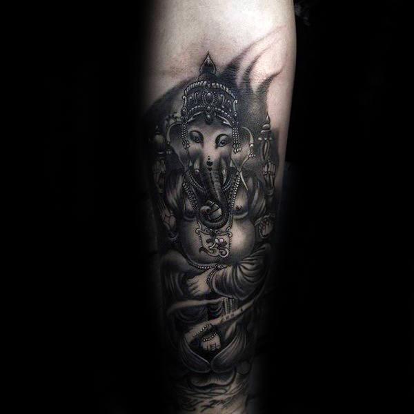 90 Ganesh Tattoo Designs für Männer - Hindu Ink Ideen